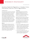 Accessory Apartment Regulations in Canadian Census Metropolitan Areas and Census Agglomerations
